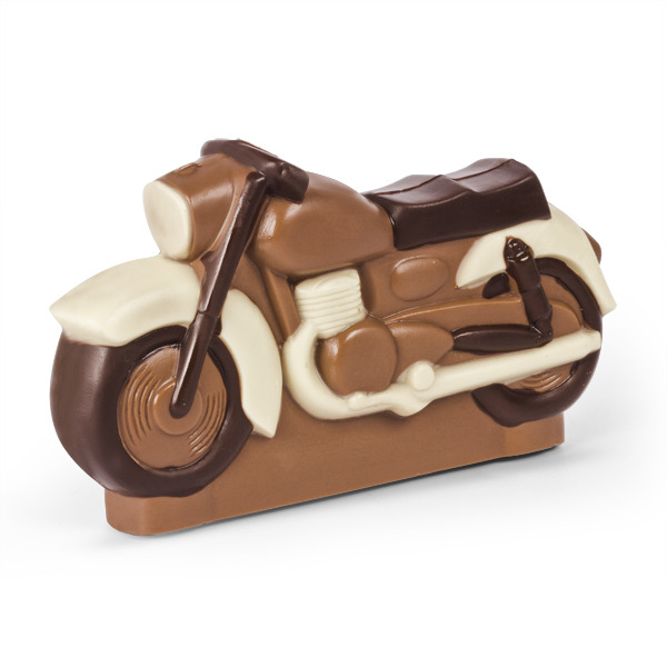 Motocykl z czekolady - figurka