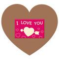 Tabliczka serce XL I love you